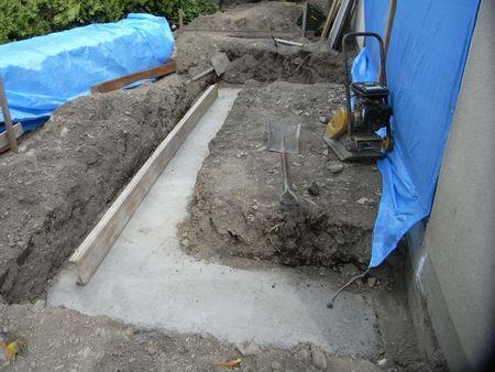 基礎床掘り・捨てコン打ち